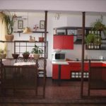 пример необычного декора кухни гостиной 16 кв.м фото