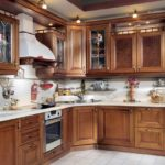 вариант необычного дизайна угловой кухни фото