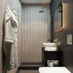 идея необычного декора ванной комнаты фото