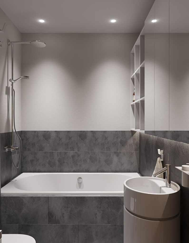 пример светлого декора ванной комнаты
