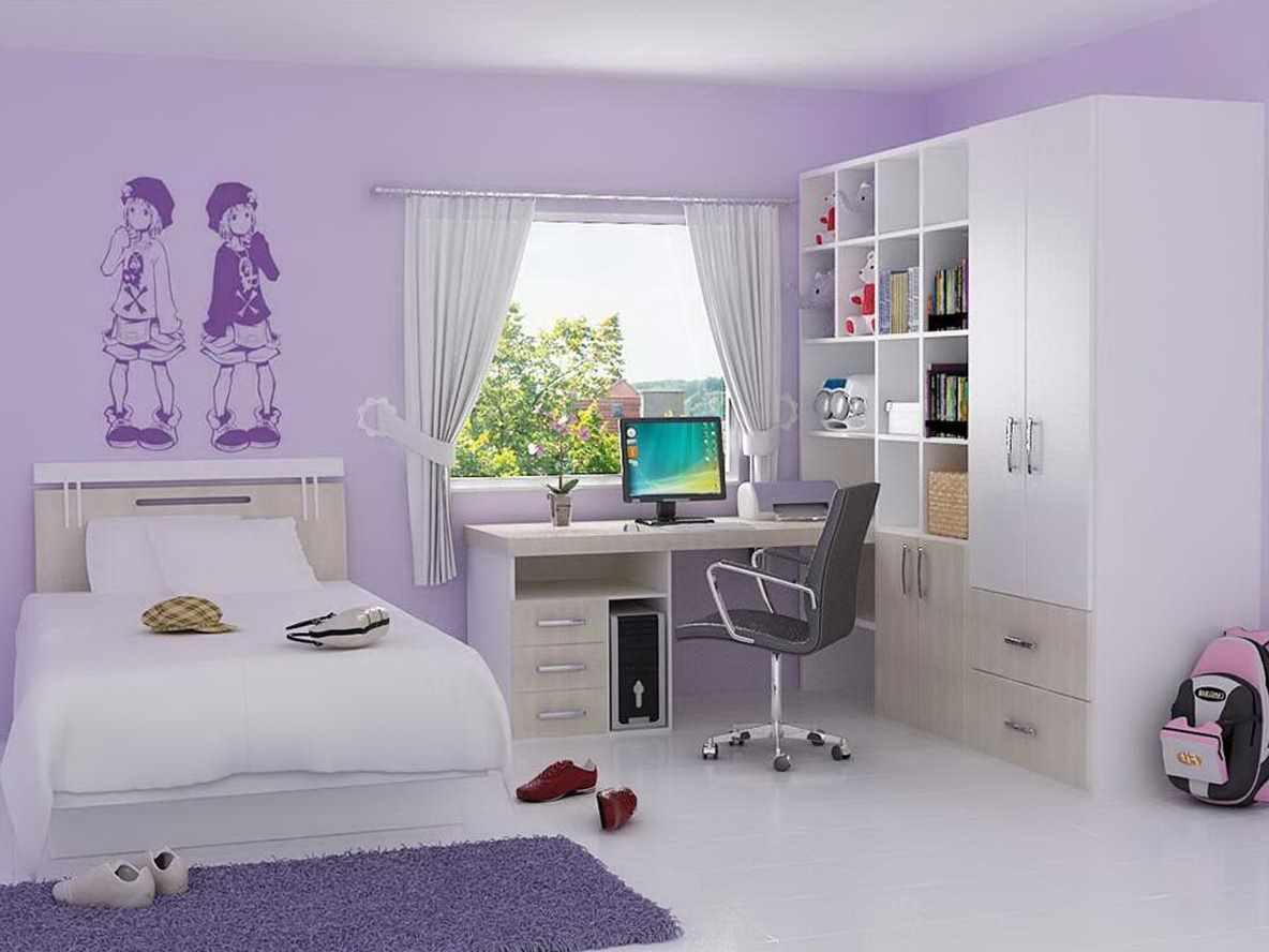 идея необычного декора детской комнаты