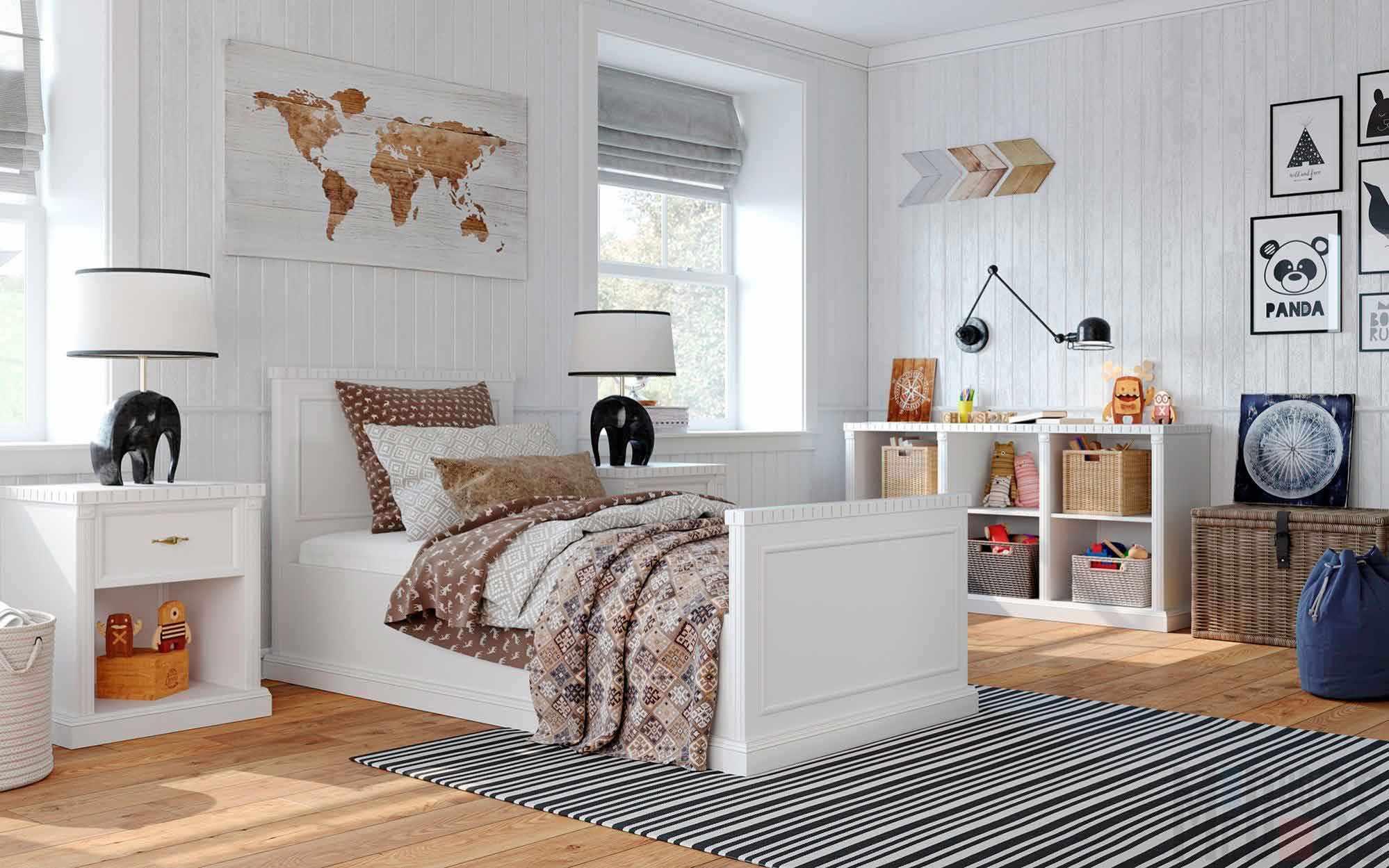 пример красивого интерьера детской комнаты