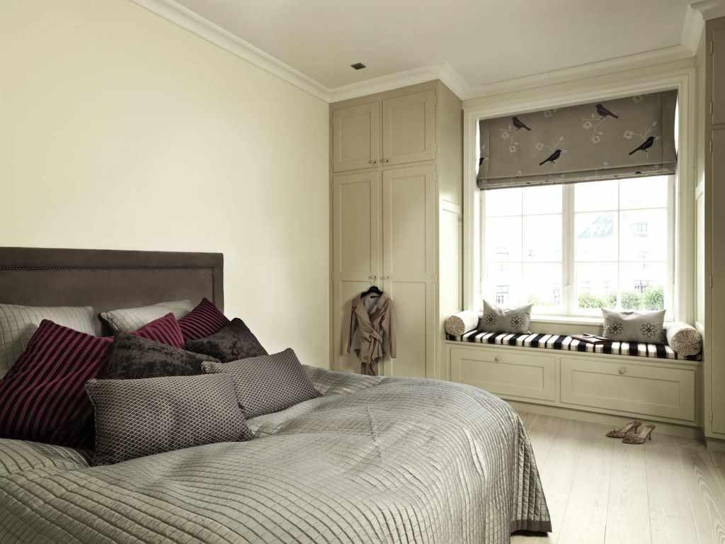 пример необычного дизайна спальни 15 кв.м