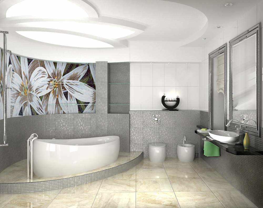 идея красивого стиля ванной комнаты