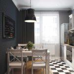 пример красивого дизайна кухни фото