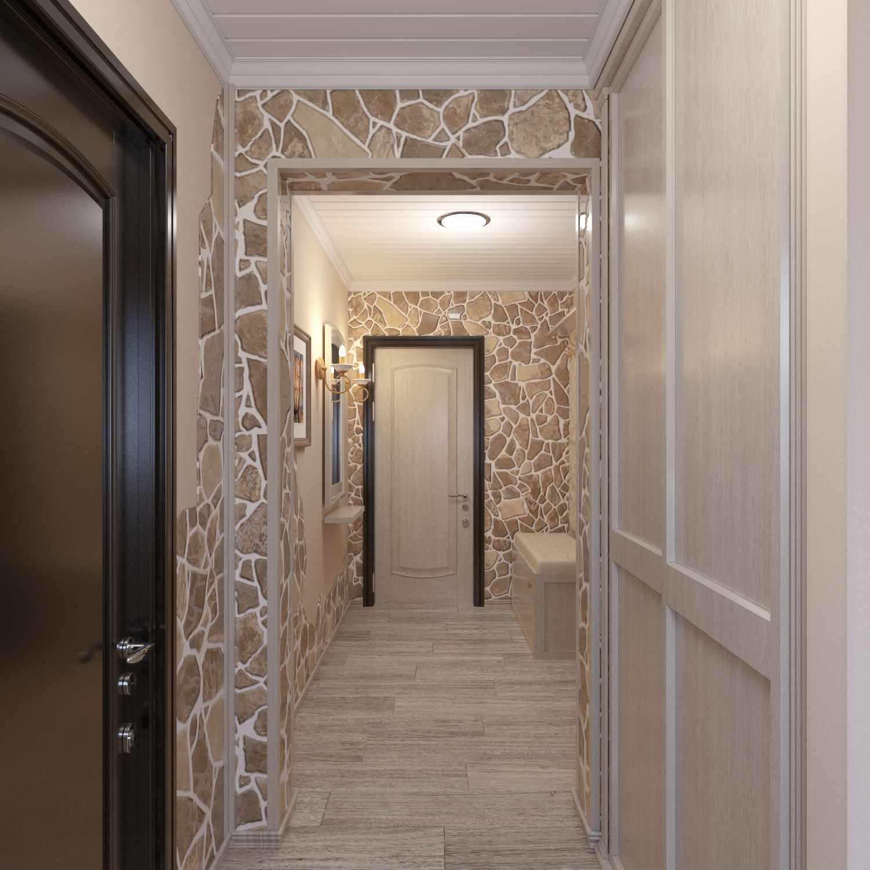 пример красивого интерьера прихожей комнаты в частном доме