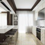пример красивого стиля кухни гостиной 16 кв.м фото