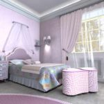 пример светлого декора спальни для девочки фото