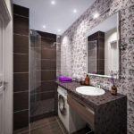 идея яркого декора ванной комнаты фото