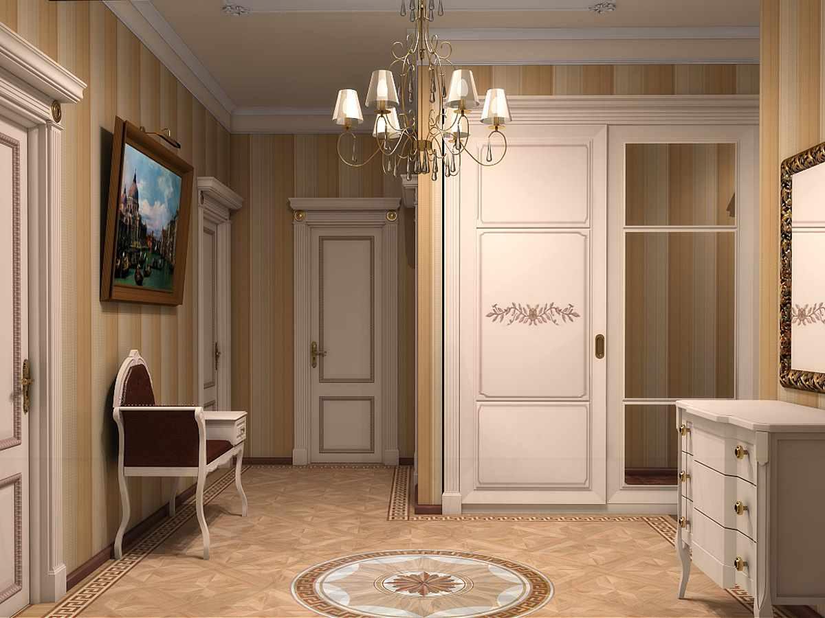 вариант красивого дизайна коридора