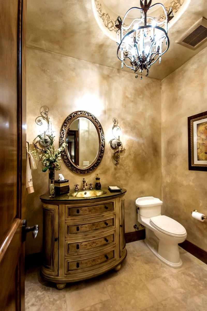пример использования яркой декоративной штукатурки в декоре ванной комнаты