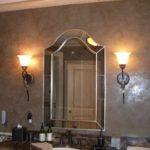 пример применения красивой декоративной штукатурки в декоре ванной комнаты фото