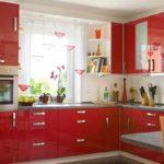 идея необычного стиля красной кухни картинка