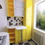 пример красивого декора кухни с газовым котлом фото