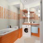 идея светлого декора ванной комнаты фото