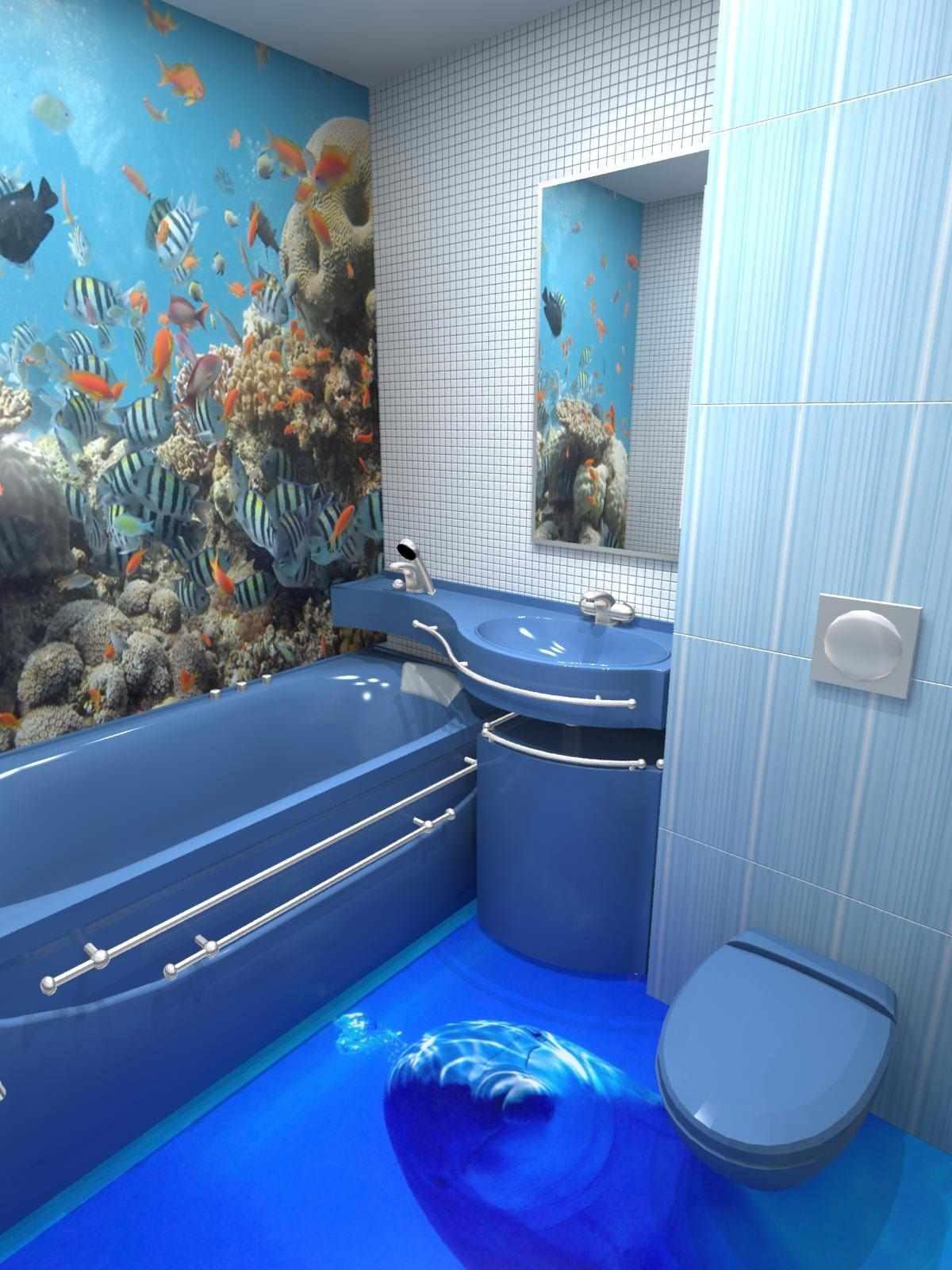 пример светлого интерьера ванной комнаты