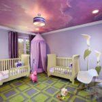 вариант необычного стиля детской комнаты картинка