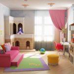 пример яркого декора детской комнаты фото