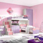 вариант светлого дизайна спальни для девочки картинка