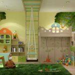 идея светлого интерьера спальной комнаты для девочки картинка