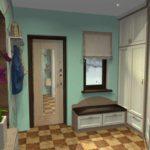 идея необычного интерьера прихожей комнаты в частном доме картинка