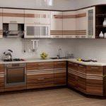 пример яркого стиля угловой кухни фото