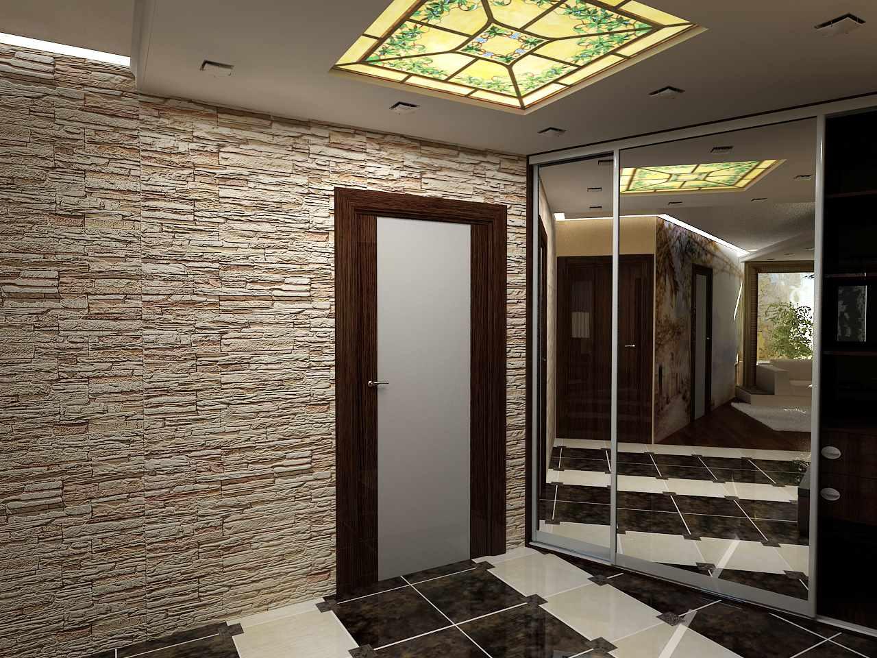 пример красивого дизайна коридора