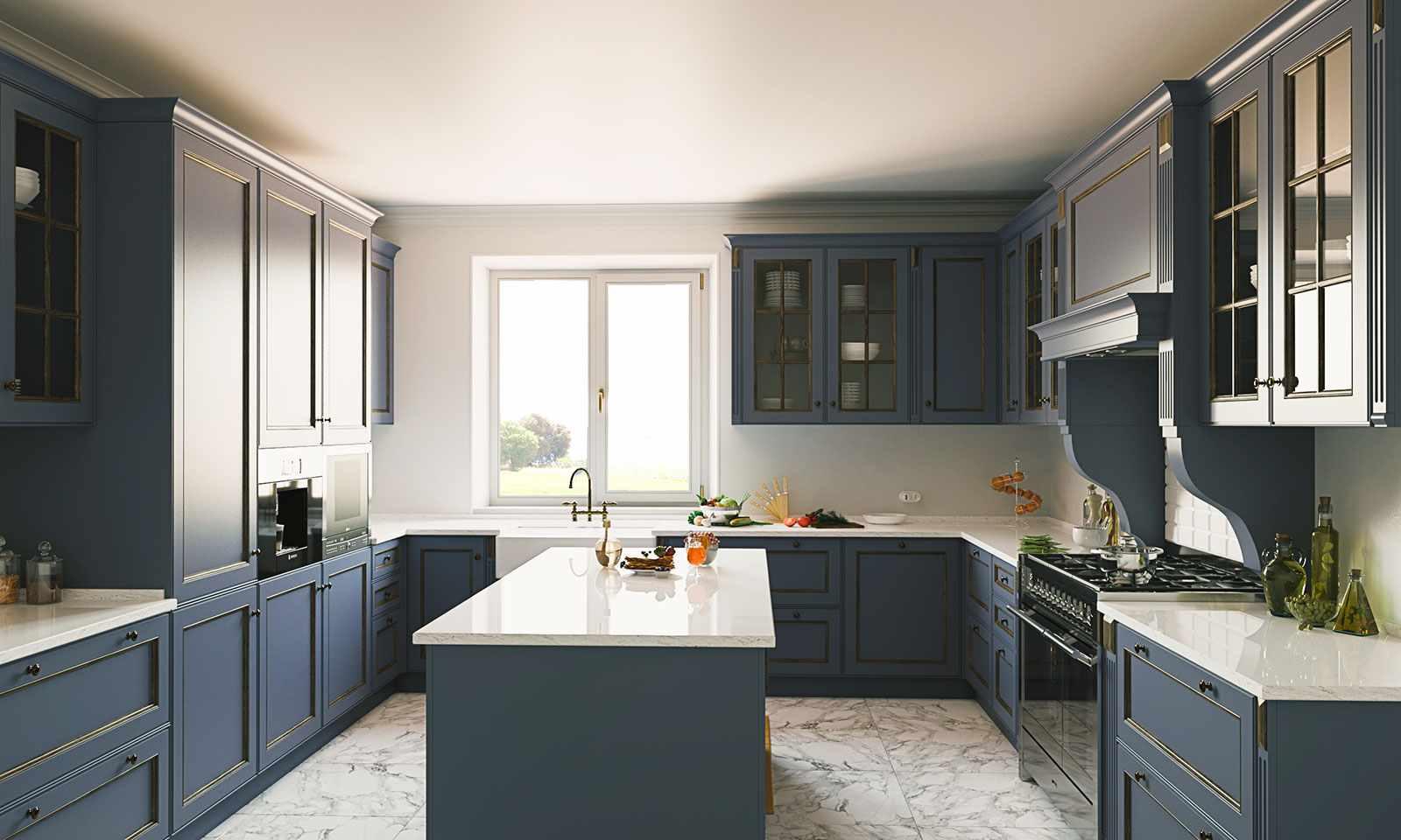 идея необычного интерьера кухни