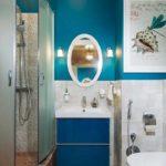 пример светлого декора ванной комнаты картинка