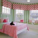 вариант необычного интерьера спальной комнаты для девочки картинка