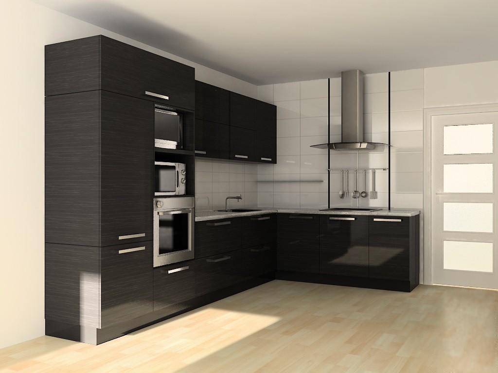 идея необычного стиля угловой кухни