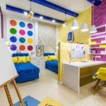 пример яркого интерьера детской комнаты картинка