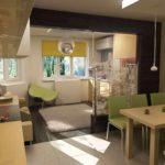 идея необычного интерьера кухни гостиной 16 кв.м картинка