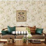 пример светлого стиля обоев для гостиной картинка