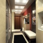 вариант красивого декора прихожей комнаты в частном доме картинка