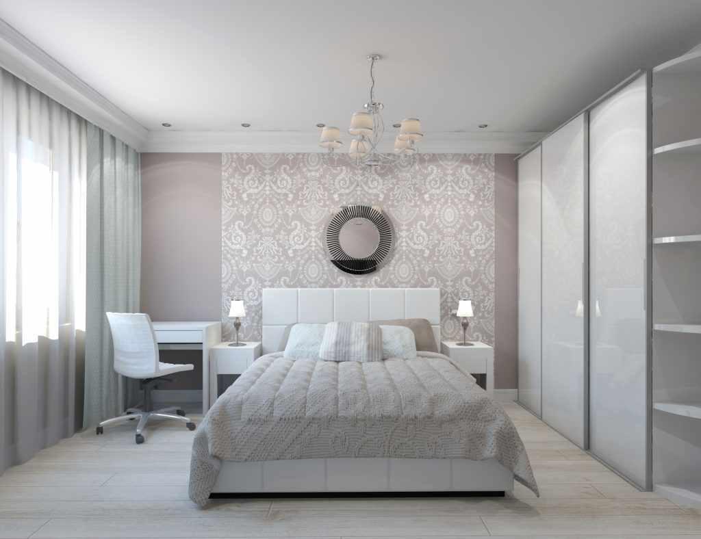 идея необычного интерьера спальни 15 кв.м