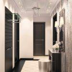 пример светлого стиля коридора в частном доме фото