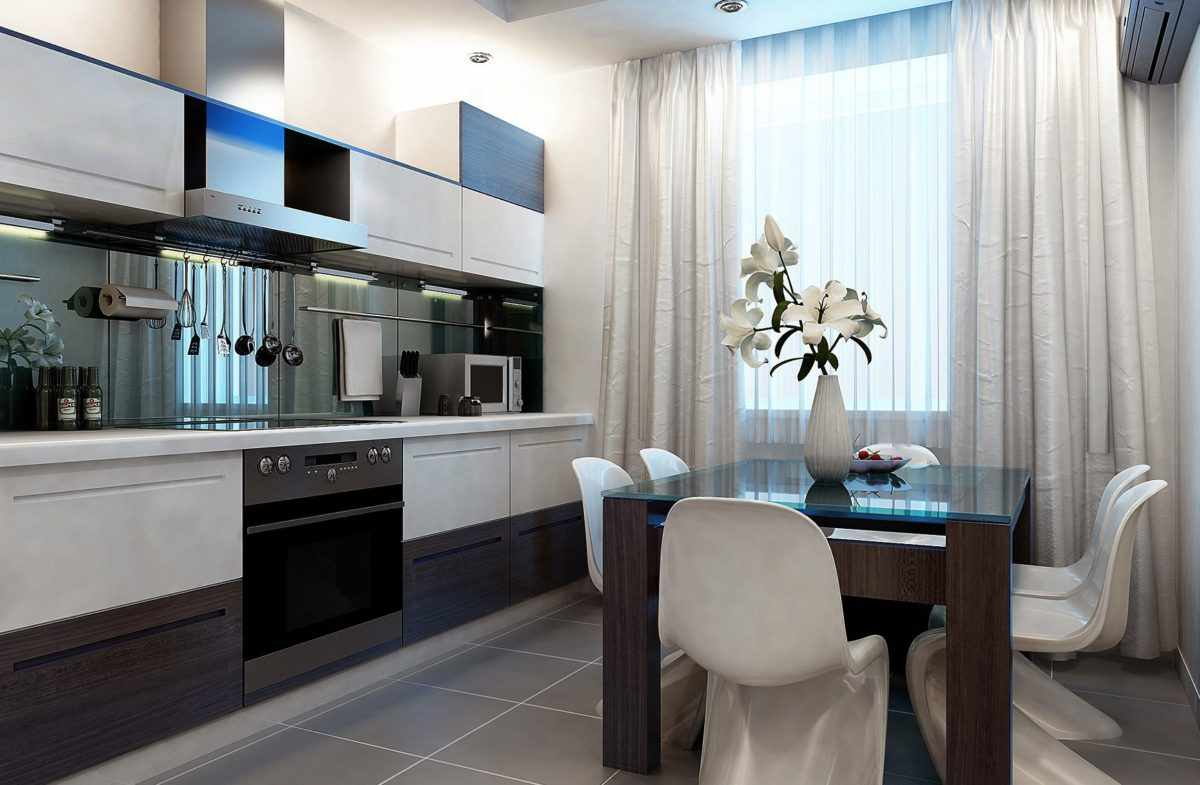 пример яркого стиля кухни