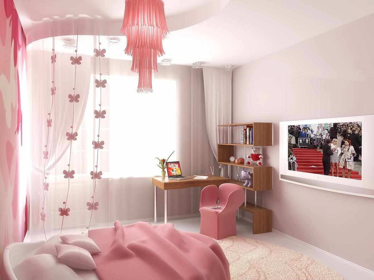 идея необычного декора спальной комнаты для девочки