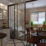 вариант красивого дизайна кухни гостиной 16 кв.м картинка