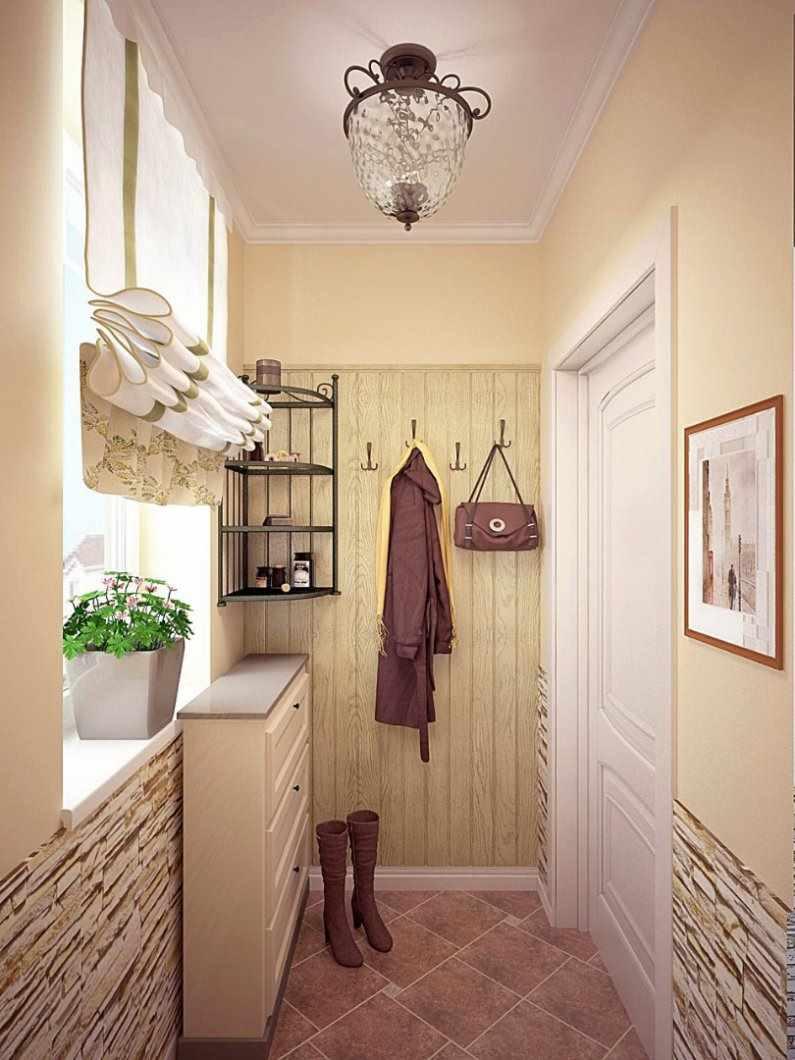 вариант светлого декора прихожей комнаты