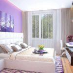 пример красивого дизайна спальной комнаты 15 кв.м картинка