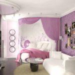 вариант необычного дизайна детской комнаты фото