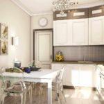 вариант светлого стиля кухни фото