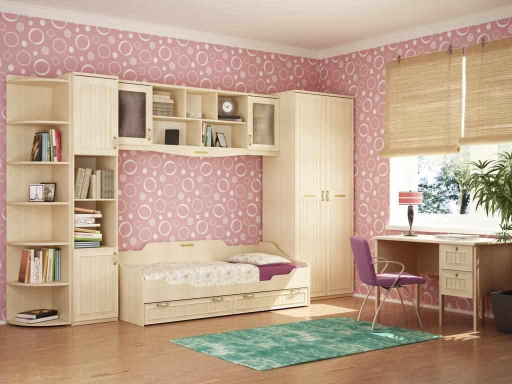 пример красивого стиля спальни для девочки