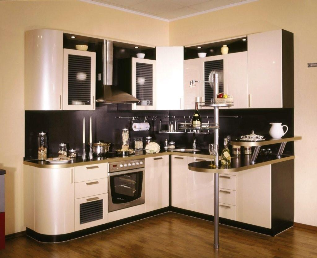 идея красивого дизайна угловой кухни