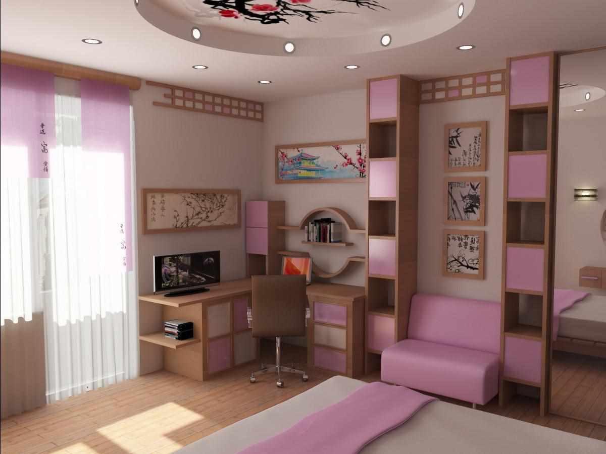 вариант красивого декора спальни для девочки