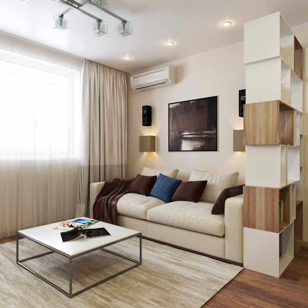 идея необычного стиля гостиной комнаты 25 кв.м