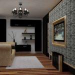 идея необычного дизайна гостиной комнаты 19-20 кв.м фото