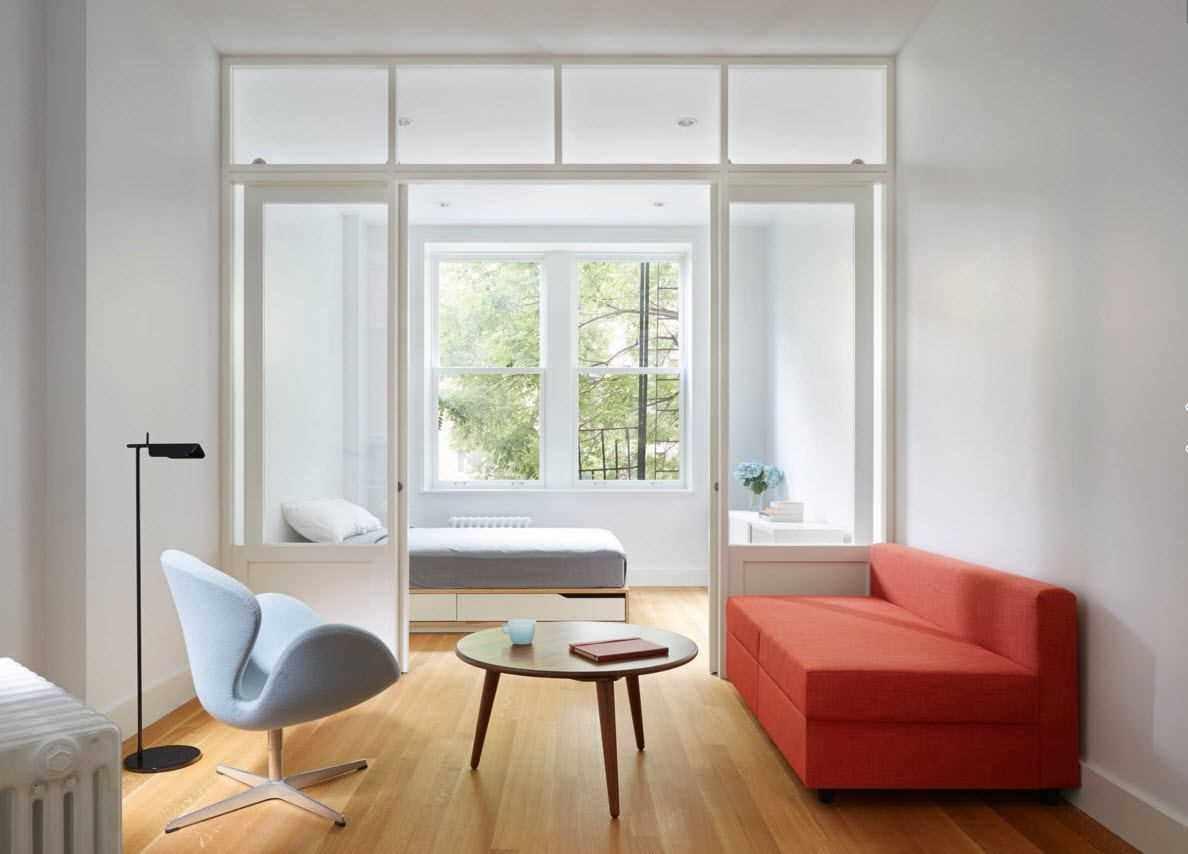 пример красивого стиля гостиной комнаты 2018